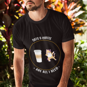 Cats & Coffee Are All I Need T-Shirt